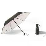 Small Fresh Lightweight Anti-Ultraviolet Sun Umbrella Rain And Sun Umbrella, Style:Five Fold(Powder)