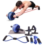 6 In 1 Abdominal Wheel Set Home Fitness Equipment Specifications:(Blue)