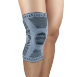 Sports Knee Pads Anti-Collision Support Compression Keep Warm Leg Sleeve Knitting Basketball Running Cycling Protective Gear, Size: M(Gray)