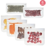 6 in 1 Translucent Frosted PEVA Food Preservation Bag Refrigerator Food Storage Bag Self-Sealing Food Bag Set(NO.1×4+NO.2×2)