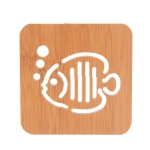 20 PCS Wooden Insulation Pad Mesh Pad Kitchen Hollow Dish Pan Cushion Large Placemat (Bubble Fish)