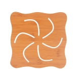 20 PCS Wooden Insulation Pad Mesh Pad Kitchen Hollow Dish Pan Cushion Large Placemat (Air Fire Wheel)