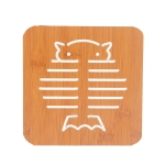 20 PCS Wooden Insulation Pad Mesh Pad Kitchen Hollow Dish Pan Cushion Large Placemat (Owl)