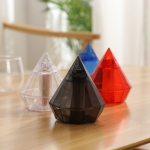 4 PCS Diamond Type Automatic Toothpick Box Household Convenient Simple Toothpick Holder,Random Color Delivery