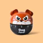 2 PCS Cute Cartoon Puppy Baking Timer Kitchen Mechanical Small Alarm Clock(Dark Brown)