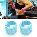 1 Pair Yoga Fitness Detachable Weight-Bearing Bracelets Sports Weight-Bearing Silicone Wrist Bands, Specification: 1800G (Blue)