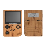 ANBERNIC RG351V 3.5 Inch Screen Linux OS Handheld Game Console (Wood Grain) 16GB+32GB