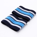5 Pairs Mountain Bike Bicycle Outdoor Cycling Belt Striped Legs With Elastic Band(Blue )