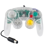 5 PCS Single Point Vibrating Controller Wired Game Controller For Nintendo NGC(Transparent)