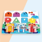 Children Montessori Busy Board Puzzle Unlocking Toy Early Education Toy, Style: Animal