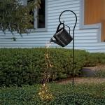 Solar Kettle Copper Wire Light String Garden Decoration Light(Black)