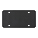 2 Sets Waterproof Rustproof Non-damaging Car Paint Silicone License Plate Frame, Specification: US Black