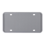 2 Sets Waterproof Rustproof Non-damaging Car Paint Silicone License Plate Frame, Specification: US Gray