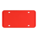 2 Sets Waterproof Rustproof Non-damaging Car Paint Silicone License Plate Frame, Specification: US Red