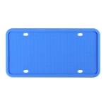 2 Sets Waterproof Rustproof Non-damaging Car Paint Silicone License Plate Frame, Specification: US Blue