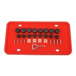 2 Sets Waterproof Rustproof Non-damaging Car Paint Silicone License Plate Frame, Specification: Red