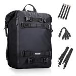 Rhinowalk Multi-Function Motorcycle Rear Seat Bag Combination Rear Shelf Pannier, Colour: Black 20L