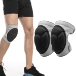 2 Pairs HX-0211 Anti-Collision Sponge Knee Pads Volleyball Football Dance Roller Skating Protective Gear, Specification: L (Gray)