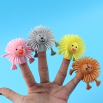 20 PCS TPR Small Animal Finger Doll Soft Rubber Kindergarten Hand Puppet Toys, Random Color and Style Delivery