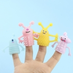 24 PCS TPR Luminous Small Monster Finger Doll Soft Rubber Mini Finger Cover Toys, Random Color And Style Delivery