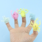 25 PCS TPR Dinosaur Luminous Finger Doll Soft Rubber Parent-Child Toy, Random Color and Style Delivery