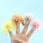 24 PCS TPR Luminous Animal Finger Doll Mini Finger Puppet Toys, Random Color And Style Delivery
