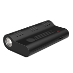 Q5S WiFi Recording Pen HD Intelligent Strong Magnetic Automatic Sound Control Long-Range Noise Reduction Recording Pen, Capacity: 8GB(Black)