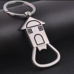 10 PCS House Shape Keychain Metal Corkscrew