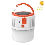 20W Emergency Lighting LED Hanging Lights Solar Charging Outdoor Camping Light, Support USB Output(White)