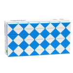 Variations And Special-Shaped 72-Segment Magic Ruler Educational Toys For Children(Blue White)