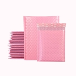 100 PCS Pink Co-Extrusion Film Bubble Bag Logistics Packaging Thickened Packaging Bag Size: 15x18cm