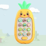 2 PCS Baby Early Education Chinese-English Bilingual Multifunctional Telephone Toy, Colour: Yellow Pineapple