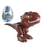 4 PCS Children Fun Doll Bite Finger Dinosaur Small Toys Simulation Tyrannosaurus Toys, Colour: Deep Brown-Egg