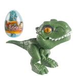 4 PCS Children Fun Doll Bite Finger Dinosaur Small Toys Simulation Tyrannosaurus Toys, Colour: Green-Egg