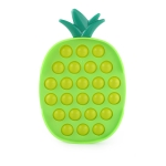3 PCS Decompression Toy Press Board Unzip Desktop Intelligence Toys(Pineapple Green )