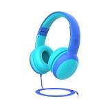 Gorsun GS-E61V Children Headphones Wired Student Cat Ear Detachable Folding Learning Headphones(Blue)