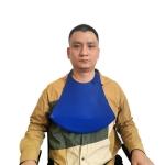 Yanxiang Elderly Eat Silicone Waterproof Bib Adult Widened Disposable Saliva Pocket(Blue)