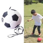 Children Training Football with Detachable Rope (No. 3 Black White)