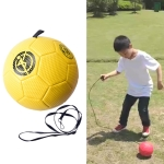 Children Training Football with Detachable Rope(No. 3 Gore Pattern Yellow)