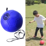 Children Training Football with Detachable Rope(No. 3 Gore Pattern Blue)