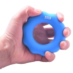 2 PCS Silicone Finger Marks Grip Device Finger Exercise Grip Ring, Specification: 35LB (Blue)