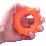 2 PCS Silicone Finger Marks Grip Device Finger Exercise Grip Ring, Specification: 55LB (Orange)