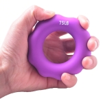 2 PCS Silicone Finger Marks Grip Device Finger Exercise Grip Ring, Specification: 75LB (Purple)