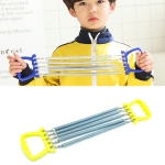2 PCS Children Spring Tension Device Student Exercise Fitness Equipment(Yellow)