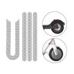 5 PCS Scooter Stickers Reflective Cursor Scooter Mudguard Reflective Sticker For Xiaomi Mijia M365 / M365 Pro (White)