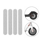 5 PCS Scooter Stickers Reflective Cursor Scooter Mudguard Reflective Sticker For Ninebot Max G30 (White)
