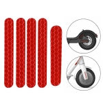 5 PCS Scooter Stickers Reflective Cursor Scooter Mudguard Reflective Sticker For Ninebot ES1 (Red)