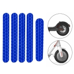 5 PCS Scooter Stickers Reflective Cursor Scooter Mudguard Reflective Sticker For Ninebot ES1 (Blue)