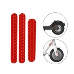 5 PCS Scooter Stickers Reflective Cursor Scooter Mudguard Reflective Sticker For Ninebot ES2 (Red)