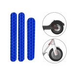 5 PCS Scooter Stickers Reflective Cursor Scooter Mudguard Reflective Sticker For Ninebot ES2 (Blue)